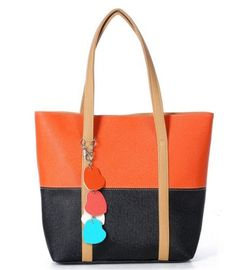 Cool2day Women's Fashion Contrast Color Jelly Shoulder bags Leisure Handbags (Model:B010551) (Orange). Man-made Synthetical PU Leather. Open Method: Top Zipper Open. Lining: Ordinary Weave Lining. Dimension:11.5 x 12x 3 inches. Handbag Style: tote-style bag.