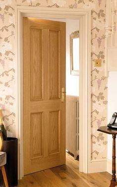 Again in white 4 Panel Oak Doors 4 Panel Doors, Oak Doors, Wooden Doors, Solid Interior Doors, Interior Doors For Sale, Victorian Internal Doors, Doors And Floors, Portal, Oak Panels