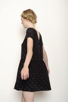 Robe Kab noir 100% soie - robe Femme - Des Petits Hauts