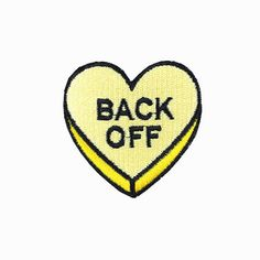 cf318c15d7c Embroideredpatch heart patch yellow patch back by craftapplique Cool Patches