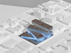 Last week, Santa Monica dropped major news that they'd hired starchitect Rem Koolhaas and his firm OMA to design its first major project in Los Angeles--a huge multi-use development on a site at. Santa Monica, Architecture Design, Concept Architecture, Library Architecture, Chinese Architecture, Win Competitions, Design Competitions, Mix Use Building, Rem Koolhaas