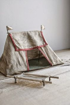 Toy Tent and Cot - Miniature - Toy - The New Victorian Ruralist: November 2014