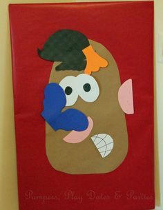 great version of pin the tail  (pin the face on the potato!)
