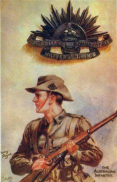 "Poster WW1 ""Australian Infantry MAN"""