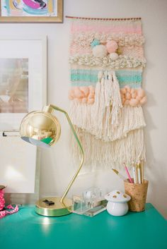 A Charming Desk Space with O My Darlings Blog   PBteen Blog