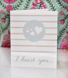 Neutral Tones Free Printable Valentines: the neutral tones in this card are perfect for everyone! Give this I Heart You card to a sibling, spouse, friend, coworker, and anyone else on your list for Valentine's Day.
