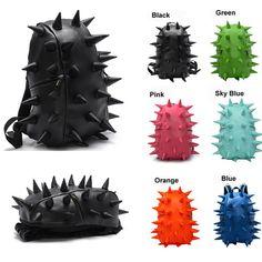 29.85$ Hedgehog Spike Women Man Punk Backpack Travelling Bag (black + green)