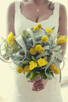 yellow & gray bouquet - gelb & grauer Strauss