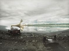 Erik Johansson doesn't capture moments, he captures ideas. The photographer, digital artist, and all around creative genius uses all kinds of mediums and materials to make his ideas come to life in animage. The names of each workare quite literaland self explanatory, likeSoundscape to