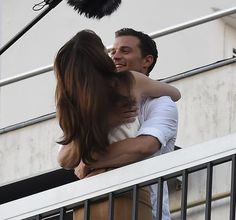 Fifty Shades' E. James Shares Behind-the-Scenes Photos From Set!: Photo Fifty Shades author E. James shared some behind-the-scenes set photos of Jamie Dornan, Dakota Johnson, and more cast and crew on set for the final days of filming… Fifty Shades Of Darker, 50 Shades Freed, 50 Shades Trilogy, Fifty Shades Series, Fifty Shades Movie, Christian Grey, Jamie Dornan, Anastasia Grey, Ana Steele