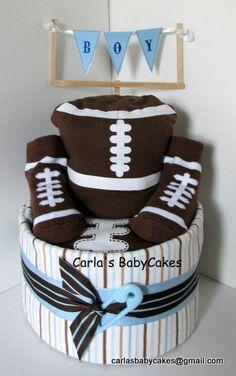 Football themed diaper cake