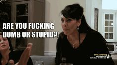 Thank you Renee for your wonderful words . I ask stupid people this question ALL the time. LOL! #MobWives