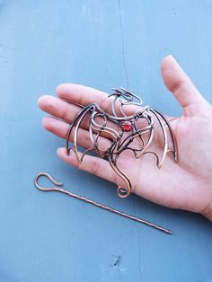 Dragon copper Hair pin Wire wrapped hair accessories