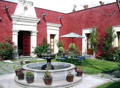 Puebla, Cholula, Hotel La Quinta Luna, Main Patio 1 - Photo by www.luxuriousmexico.com 0407
