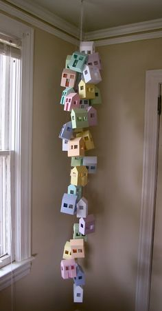 DIY Paper House Mobile