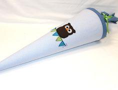 Schultüten - Schultüte - Eule - - ein Designerstück von KraussesKindersachen bei DaWanda