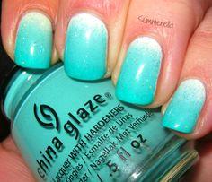 Summerella Nails: Wait Teal You See! China Glaze Ombre Nail Kit