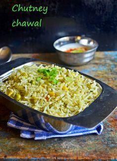 Mint-coriander pulao reipe | chutney chawal recipe | Pulao recipes | Cook click n devour!!!