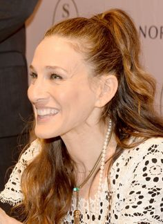 Sarah Jessica Parker in Mikimoto Akoya cultured pearl strand