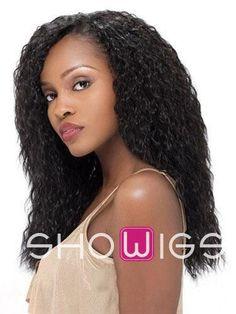 Sensational Long Curly African American Wig http://www.ishowigs.com/sensational-long-curly-african-american-wig.html