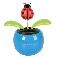 Watch your butterfly, ladybug or flower dance to the tune of solar energy! These dancers will brighten up your workspace, car or windowsill with their silly dance moves. When the sun shines on the solar panel, it sways back and forth to its own internal beat. Works with desk lamp light, but dances best in direct sun. They're a great gift for any occasion. No batteries required. #SOLAR #TOYS #Easter