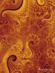 Gold fractal - best wallpapers ever!!!