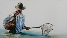 Click to view available originals of Cowboy Art and Fly Fishing Watercolor…