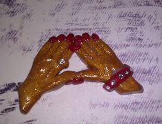 Polymer Clay Delta Cabochon / Flat Backed - accented with Swarovski Crystal Accents...$7.50