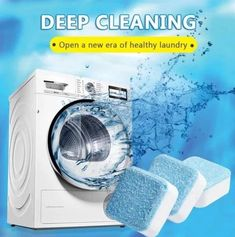Washing Machine Deep Cleaning Tablets - Tab Cleaner Washer Detergent Effervescent Home House Cleaning Tips, Deep Cleaning, Cleaning Hacks, Kitchen Cleaning, Bedroom Cleaning, Cleaning Recipes, Spring Cleaning, Washing Machine Cleaner, Clean Washing Machine