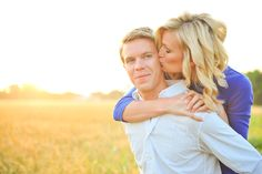 engagement pic in a wheat field... beautiful