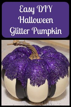 This glitter pumpkin