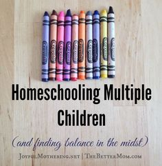 As we continue our balancing life as a busy mom series we are addressing Homeschooling Multiple Children. Christin shares some great tips!!