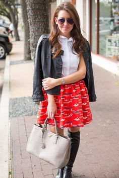 Red Skirt | Dallas Wardrobe