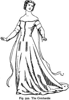 10 best the late middle ages images medieval clothing medieval 1100s Clothing cotehardie snug fitting bodice and sleeves that were attached to a long very wide