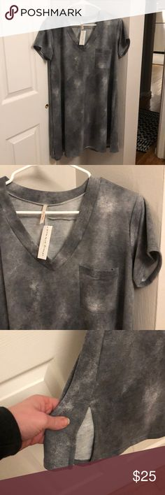 Gray Tunic Dress Boutique purchase. Short dress. Super soft, like a sweatshirt. Brand new with tags. Vinnie Louise Dresses Mini