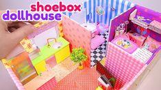 DIY Miniature Dollhouse in a Shoebox - YouTube