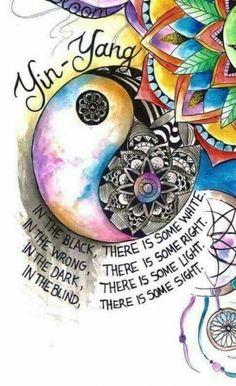 trendy Ideas for drawing trippy hippie yin yang Watercolor Mandala, Happy Hippie, Mandala Art, Spiritual Art, Drawings, Mandala, Ying Yang Tattoo, Yin Yang Art, Art
