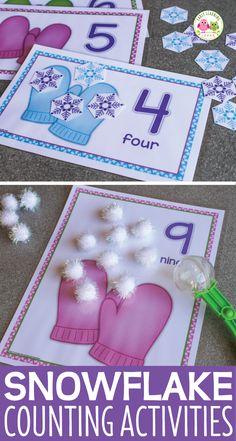 Winter Crafts For Kids Snow Activities, Winter Activities For Kids, Winter Crafts For Kids, Preschool Activities, Preschool Winter, Preschool Prep, Counting Activities, Winter Ideas, Preschool Learning
