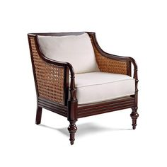 Palisade Arm Chair And Cushions - Cream Stripe - Frontgate British Colonial Decor, Bedroom Furniture Sets, Condo Furniture, Furniture Ideas, Bedroom Decor, Ottoman Bench, Luxury Home Decor, Living Room Chairs, Furniture Collection