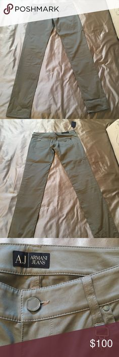 Armani Jeans Pants Women's Armani Jeans Pants, Size 29, New with tags, Color: Olive Green Armani Jeans Pants Straight Leg