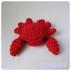 Amigurumi crab plush crochet toy kawaii