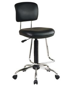 Office Star Chrome Finish Drafting Chair-Overstock $112