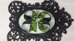 Hey, I found this really awesome Etsy listing at https://www.etsy.com/listing/200559589/green-black-hairbow-bow-6-inch-x-large