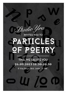 Particles of Poetry at Tina We Salute You