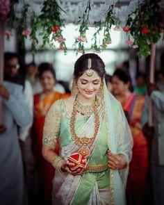 "LightBucket Productions on Instagram: ""Neha ✨ . @neha_chinnappa . #bride #bridalmakeup #bridal #bridalportrait #southindianbride #weddingphotography #lightbucketproductions…"" Tamil Wedding, Saree Wedding, Wedding Day, South Indian Bride, Indian Bridal Sarees, Bridal Make Up, Bridal Portraits, Bridal Jewelry, Wedding Photography"