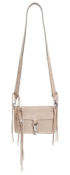 mini mac convertible crossbody bag by Rebecca Minkoff. A wide strap with whipstitched trim refreshes an iconic Rebecca Minkoff bag accented with a curved flap and signature clip-lock hardware.  #rebeccaminkoff #bags