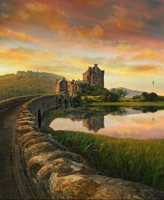 Scotland Castles, Scottish Castles, Best Of Scotland, Eilean Donan, Landscape Drawings, What Is Tumblr, Pictures To Draw, Mirror Image, Monument Valley