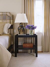 like the black bedside table, maybe new black drawer pulls on dressers