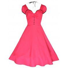 Bella Pink Swing Jive Dress | Vintage Inspired Fashion - Lindy Bop