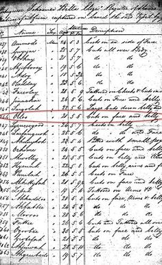 Image: 19th century court documents listing the names, ages and boat of African slaves have been turned into a 21st century database enabling people to search for their ancestors and giving slaves an identity. The African slaves, wrenched from their homeland and shipped to America in the 1800s, have been known only as numbers... until now. Called African Origins the project, a new online database could help trace the roots of more than 100,000 slaves and help give them a proper identity.